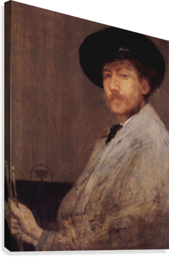 Self Portrait -1- by James Abbot McNeill Whistler  Canvas Print